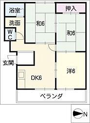 みそのマンション小牧[3階]の間取り