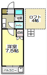福岡県北九州市小倉南区志井6丁目の賃貸アパートの間取り