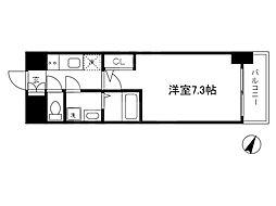 Osaka Metro谷町線 南森町駅 徒歩9分の賃貸マンション 12階1Kの間取り