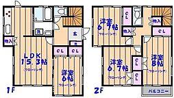 [一戸建] 千葉県船橋市夏見台4丁目 の賃貸【/】の間取り