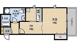 W.O.B HANATEN[4階]の間取り