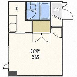 第23松井ビル[203号室]の間取り