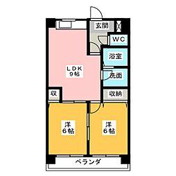 M FLAT[2階]の間取り