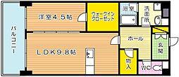 アヴィニールグランデ金田[3階]の間取り