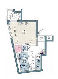 東京都杉並区高井戸西1丁目の賃貸マンションの間取り
