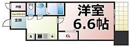 Osaka Metro中央線 緑橋駅 徒歩5分の賃貸マンション 13階1Kの間取り
