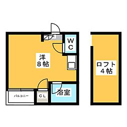 サンスカイ貝塚駅前[1階]の間取り
