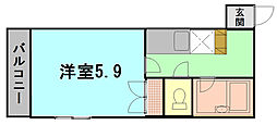 MEハイツ[4階]の間取り
