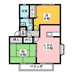 カーサベッラA棟[2階]の間取り