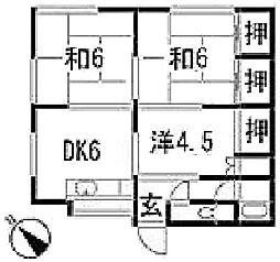浅野荘[102号室]の間取り