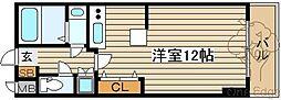 カスタリア新梅田[11階]の間取り