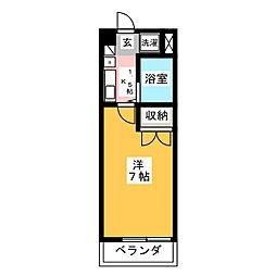 愛知県尾張旭市印場元町4丁目の賃貸マンションの間取り