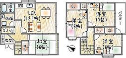 京阪本線 牧野駅 徒歩12分 4LDKの間取り