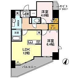(仮)越谷プロジェクト 9階2LDKの間取り