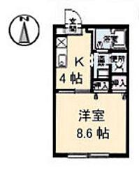 クレール宮島口[2階]の間取り