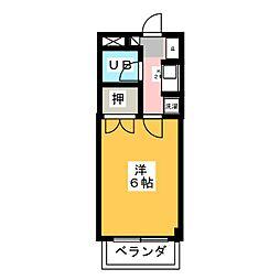 大仁マンションII[3階]の間取り