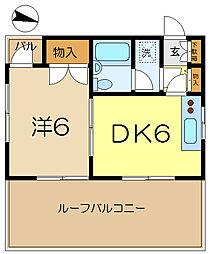 梁川コーポ[3階]の間取り
