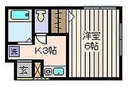 東京都葛飾区西亀有4丁目の賃貸アパートの間取り