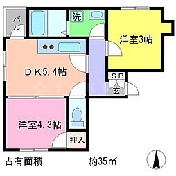 D'sLIBLA[2階]の間取り