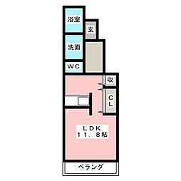 静岡県静岡市葵区大岩町の賃貸アパートの間取り