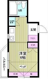 プラティーク笹塚 ササヅカ[504号室]の間取り