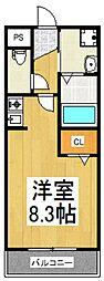 ローズスクエア[2階]の間取り