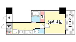 ロイヤルヒル神戸三ノ宮Ⅱ[4階]の間取り