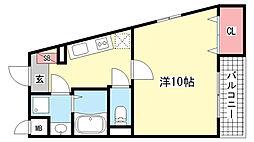 SPACE 7 OKAMOTO[101ttt号室]の間取り
