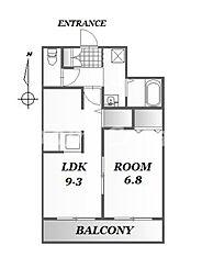 M97/70-B[1階]の間取り
