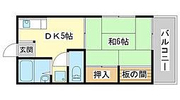 メゾン澤田[201号室]の間取り