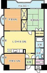 第3泰平ビル[1101号室]の間取り