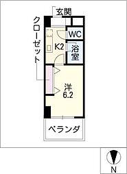 アレンダール大須[6階]の間取り