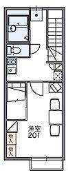 レオパレスザーリア[2階]の間取り