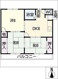 スターハイツ八幡[1階]の間取り