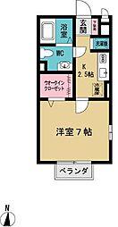ハイム南山田[2階]の間取り