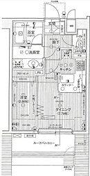 東京メトロ千代田線 赤坂駅 徒歩2分の賃貸マンション 7階1DKの間取り