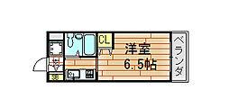ロイヤルアーク八戸ノ里[403号室]の間取り
