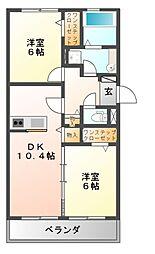 グロリアハイツはびきの A棟[3階]の間取り
