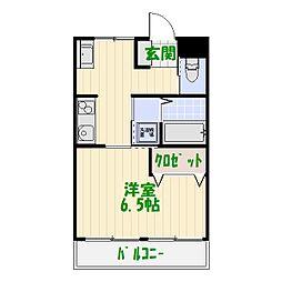山一西亀有ビル[2階]の間取り