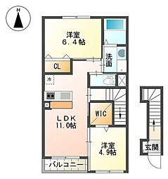 裾野市金沢 新築アパート[00203号室]の間取り