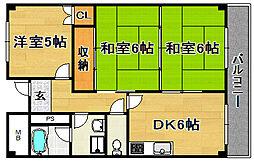 大阪府摂津市東別府4丁目の賃貸マンションの間取り