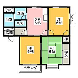 アーバンライフ花原[2階]の間取り