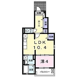 アヴァンタイム[1階]の間取り