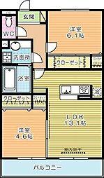 仮)D-ROOM蒲生[3階]の間取り