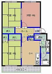 サンスイートマンション[306号室]の間取り
