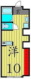 京成本線 堀切菖蒲園駅 徒歩6分の賃貸アパート 1階ワンルームの間取り