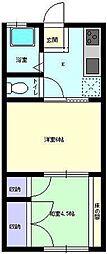 カーサ矢留[203号室]の間取り