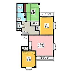 ドミール94[3階]の間取り