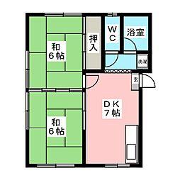 アベアパート[2階]の間取り