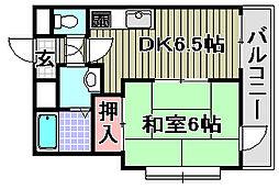 ABCライフ東岸和田[403号室]の間取り